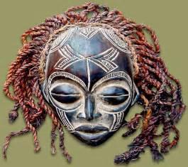 african mask chokwe female
