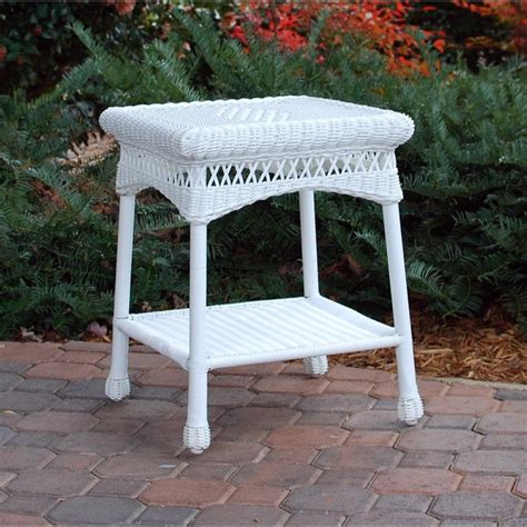 tortuga outdoor portside white side table  shipping