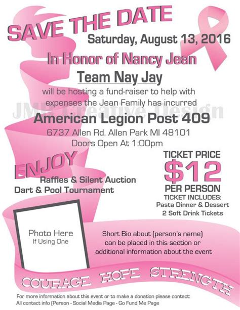 Breast Cancer Walk Flyer Template