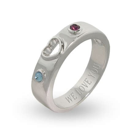 two birthstone engravable promise ring s addiction