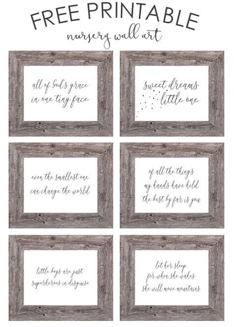 free printable wall art decor free printable nursery wall art the girl creative