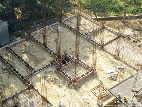 pile caps and plinth construction of subhadra bhavan
