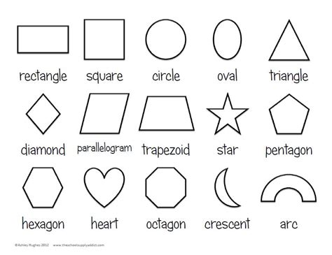 printable 2d shapes and names 4 best images of basic shapes outline printable basic
