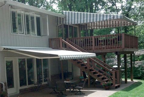 Stationary Awnings For Decks by Mt Lebanon Patio Awning Affordable Tent And Awnings