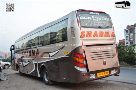 Bangalore To Pune Sleeper by Sharma Leyland Luxura Ac Sleeper Biswajit Svm Chaser