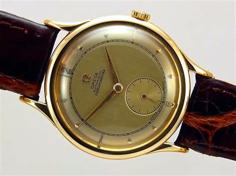 omega centenary 18k gold chronometer grade vintage 1948