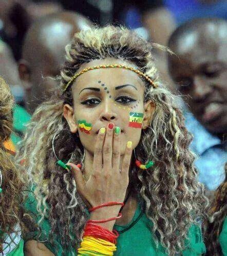 ethiopian hair secrets beautiful habesha girl soccer fan konjocafe