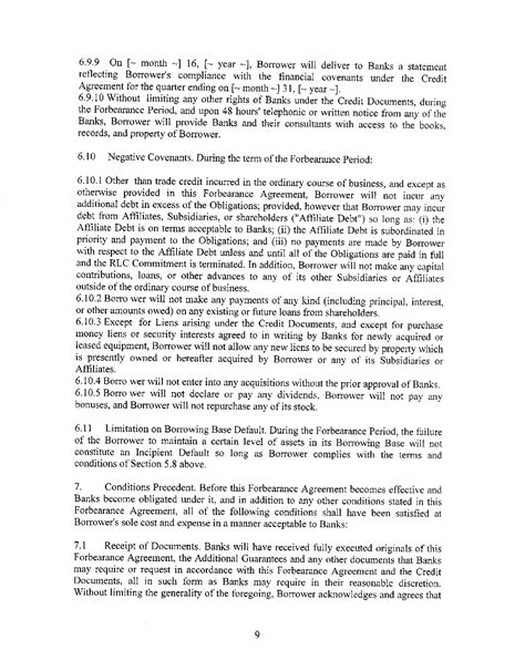 Mortgage Forbearance Letter Free Sle Forbearance Agreement For Pdf Page 18