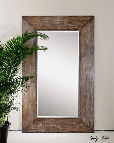 extra large wood wall floor mirror xl oversized rustic