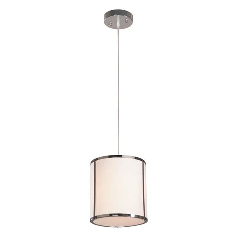 hton bay newborough 1 light chrome with white shade