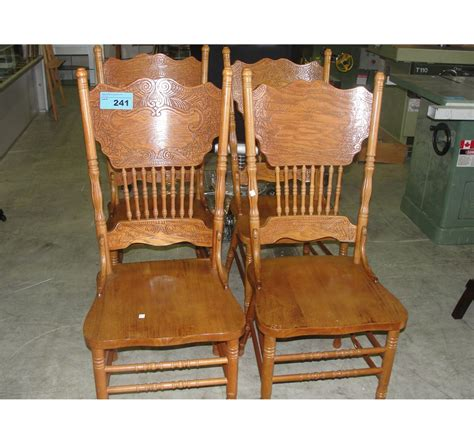 pressed wood oak dining room side chair