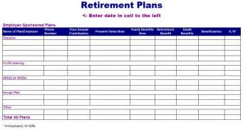 retirement plan template free layout format