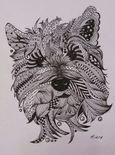 mandala tattoo yorkshire zentangle dogs and yorkie on pinterest