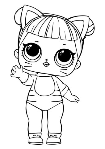 lol doll baby cat coloring page  printable coloring