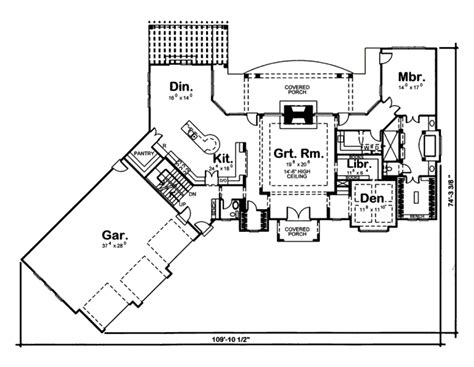 455 square feet ranch style house plan 2 beds 2 5 baths 3174 sq ft plan