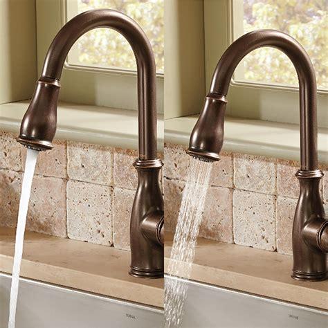 7185orb moen brantford series kitchen faucet oil moen brantford one handle high arc pulldown kitchen faucet