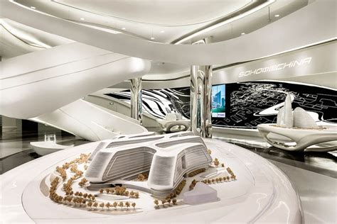 zaha hadid interior futuristic interior sky soho by zaha hadid architects shanghai china technolog 2045