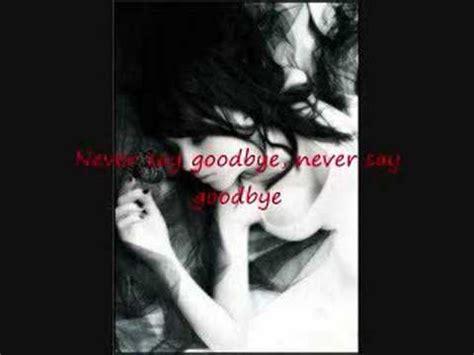 bon jovi never say goodbye lyrics bon jovi never say goodbye youtube
