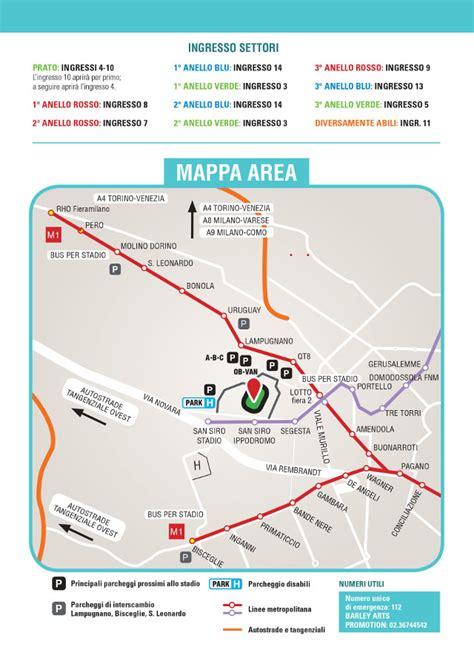 mappa ingressi san siro 3 5 luglio 2016 stadio san siro bruce