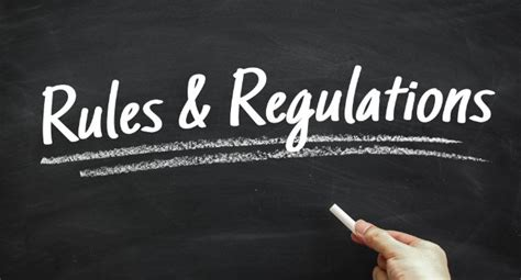 and regulations