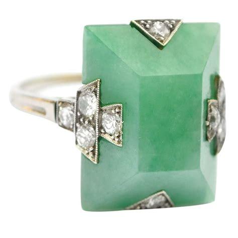 jade deco ring vintage jewelry deco weddings
