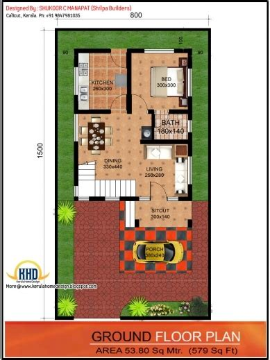 home design 15 x 50 home design plans for 15 215 50 plot house plan ideas