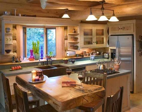 lodge kitchen cabin mountain theme room inspirations fancy house road