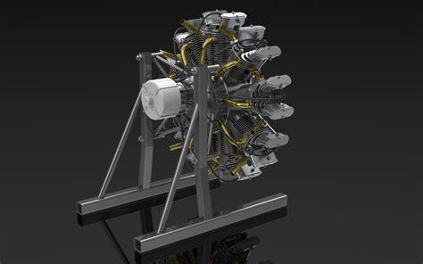 olsryd  cylinder radial engine  solidworks myheadontheblog
