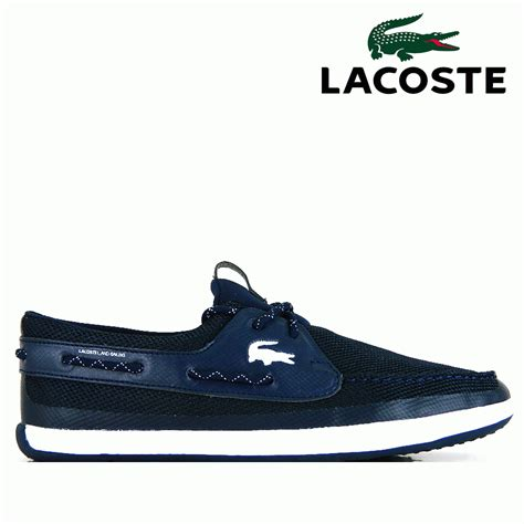 lacoste shoes lacoste footwear l andsailing trf spm navy trainer boat