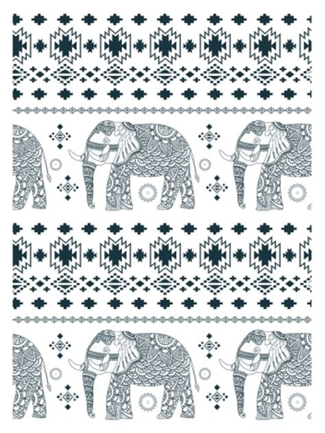 black and white elephant pattern elephant pattern design with black and white ornamentation
