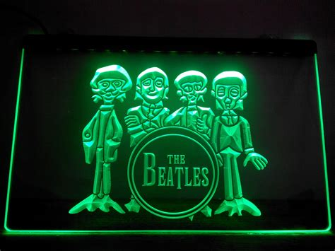 Neon Bar Lights by Lf167 G The Beatles Drum Band Bar Neon Light Sign Led Light Sign Bar Signs Open Signs Open Signs