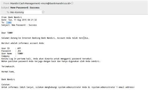 email mandiri login mandiri internet bisnis untuk pertamakali