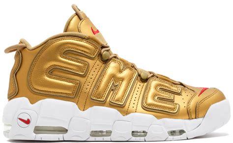 Nike Uptempo X Supreme Gold Premium supreme x nike air more uptempo gold