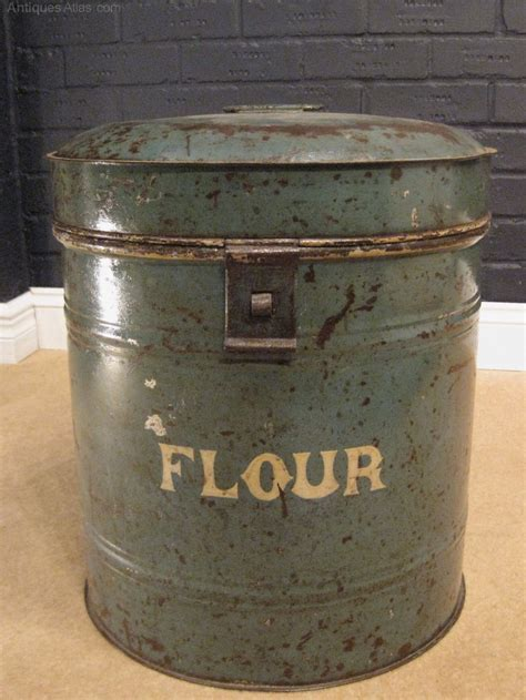 Antiques Atlas   Victorian Metal Flour Bin