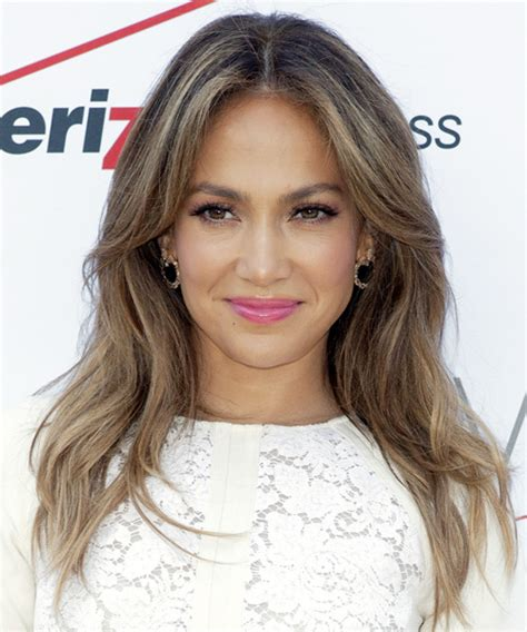 Jennifer Lopez Long Straight Casual Hairstyle   Medium