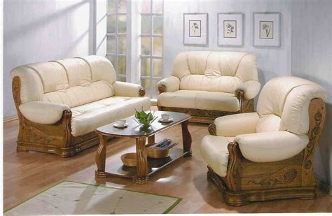 Leather And Wood Sofa Leather Wood Furniture The House Decorating