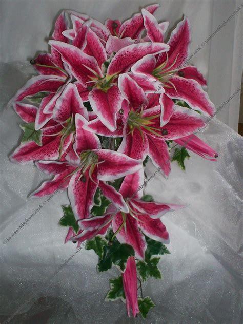 Stargazer Lily Shower Bouquet   Wedding Flowers   Wedding