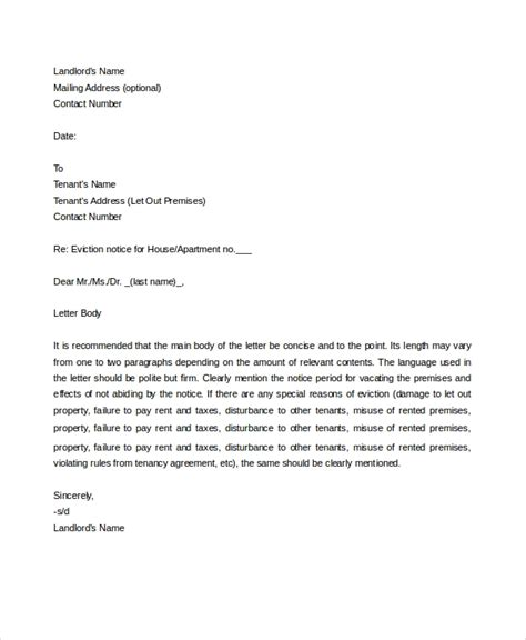 eviction letters word documents