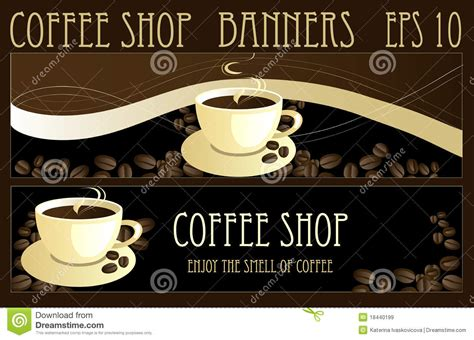 design banner coffee shop coffee banners royalty free stock images image 18440199