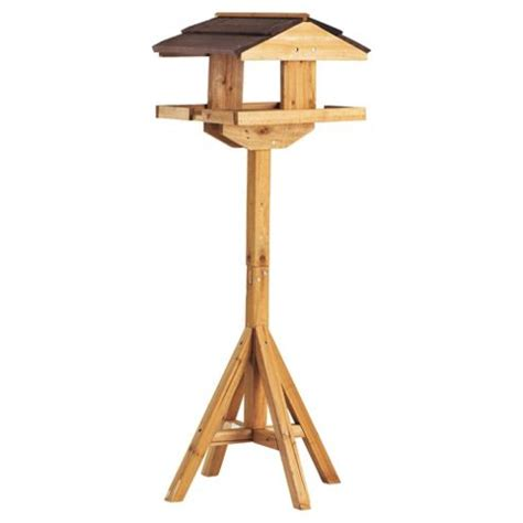 buy wooden bird table from our bird tables range tesco com
