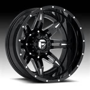 Truck Wheels Black With Fuel D267 Lethal Dually 2 Pc Matte Black Milled Truck