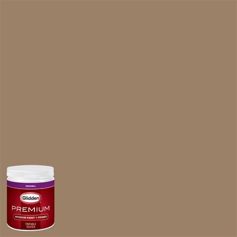 glidden premium 8 oz hdgy13u canvasback brown eggshell interior paint with primer tester