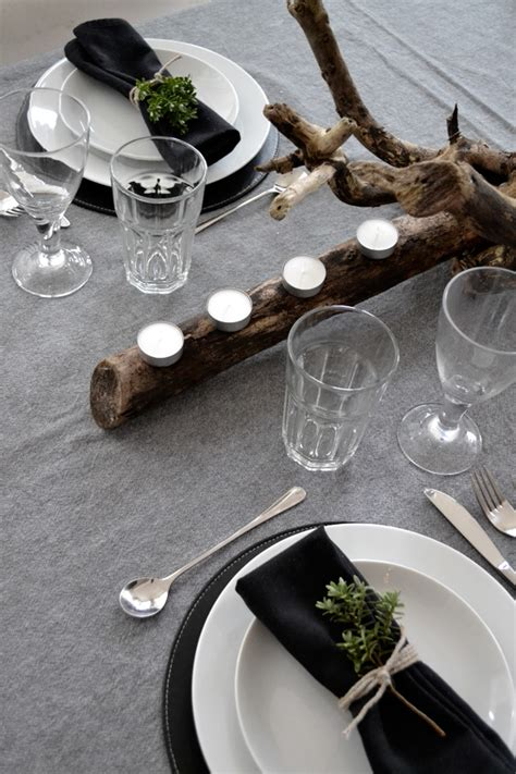 black and white dinner table setting festive table setting