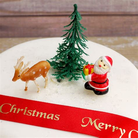 vintage retro reindeer plasticcaketopper uk retro santa tree and reindeer cake decorations set