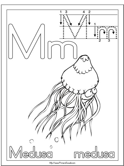 imagenes educativas letra m ficha letra m medusa b imagenes educativas