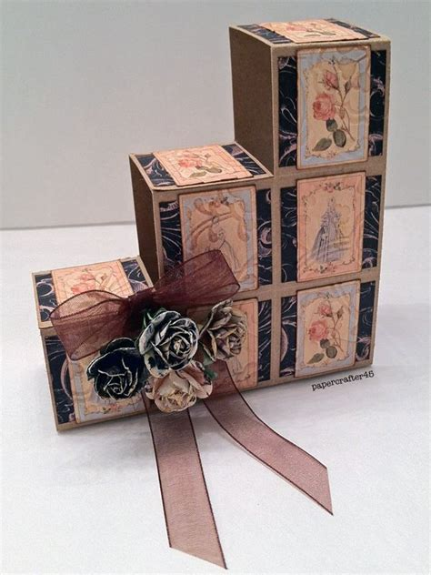 Prima Decor Foldable Tissue Box Garden 15 best folding box cards images on step cards