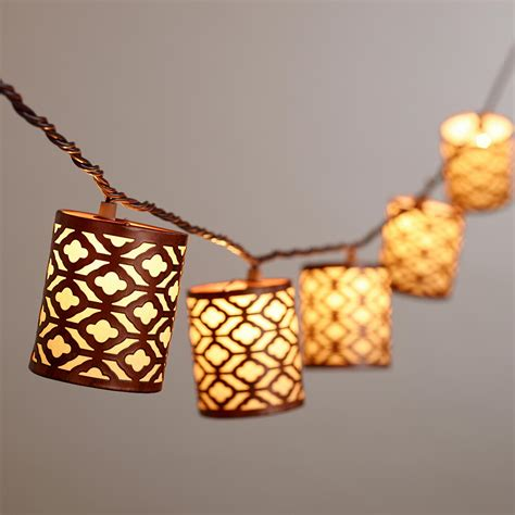 World Market Lights by Metal Lattice 10 Bulb String Lights World Market