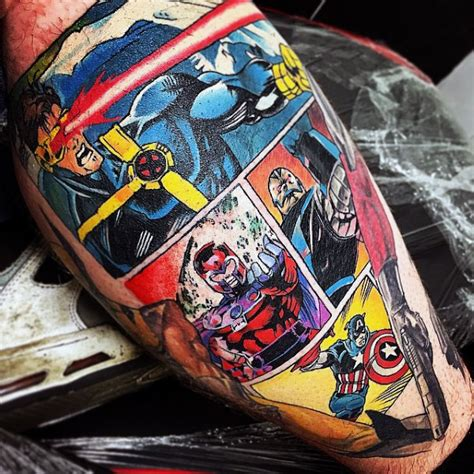 comic strip tattoo designs 70 captain america designs for ink