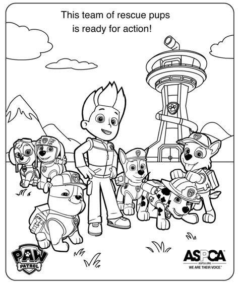 coloring pages paw patrol free printable paw patrol coloring pages for