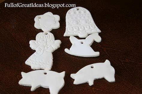 make it bake it christmas ornaments of great ideas in september corn starch and baking soda ornaments